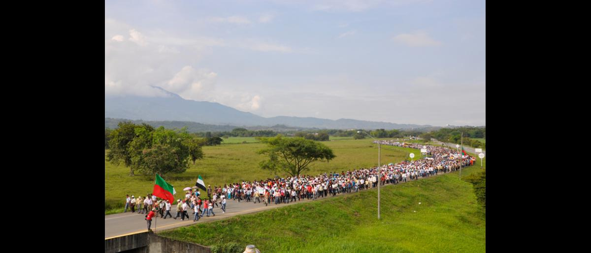 """The """"Million Voices Against the FARC"""" march mobilized more than 14 million Colombians, not only in large urban areas but also in rural zones and in more than 30 countries. © Fucude archive."""