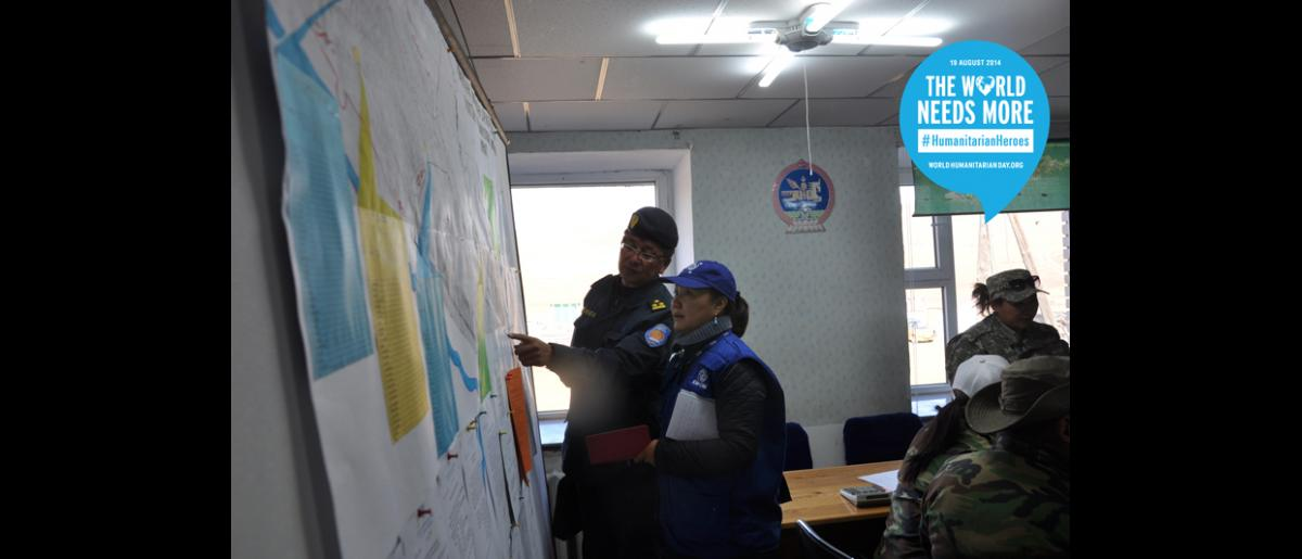 Rentsendorj Oyunbileg, Programme Officer – MONGOLIA. As an officer for IOM, Rentsendorj provides support to the National Emergency Management Agency and the Humanitarian Country Team in order to help better prepare for disasters. She provides training on camp coordination and management.