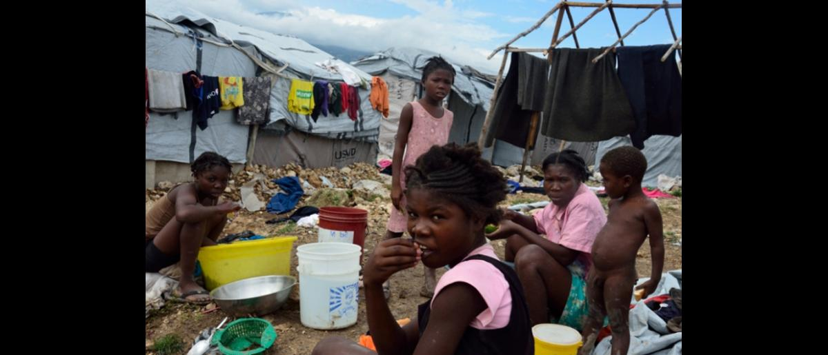 IOM conducts rapid assessments after Tropical Storm Isaac and found some 13,000 families in need of assistance. © IOM 2012