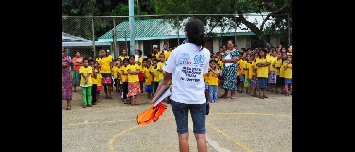 "IOM, with funding from the United States Agency for International Development (USAID), and in coordination with the Pohnpei State Department of Education (PDOE), has organized a three-day ""School Emergency Planning and Preparedness Training."" © IOM 2012"