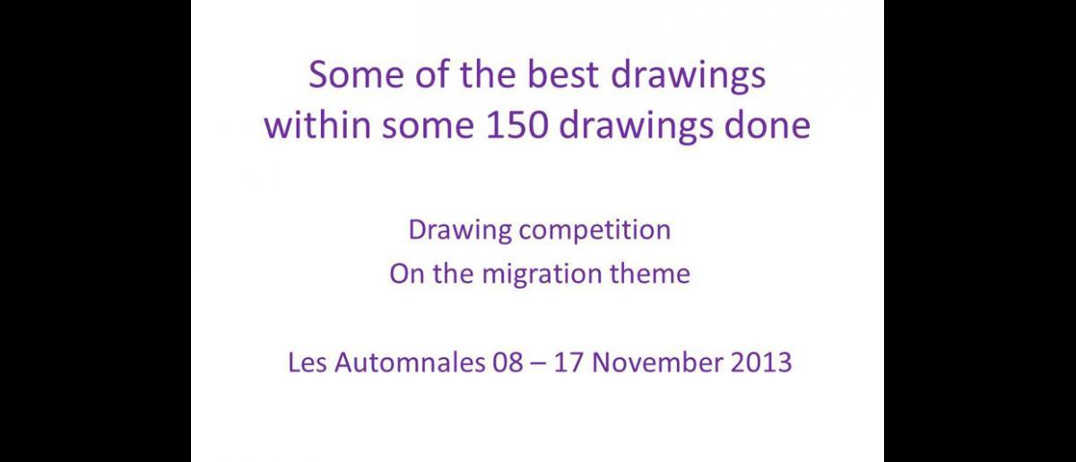 Algunos de los mejores dibujos de los 150 recibidos Concurso de dibujo Sobre migración Los Otoñales - 08 al 17 de noviembre de 2013