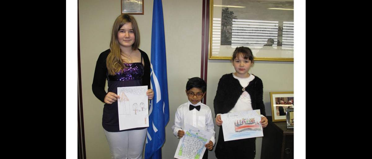 Los tres ganadores : Joana, Tharanga y Marie