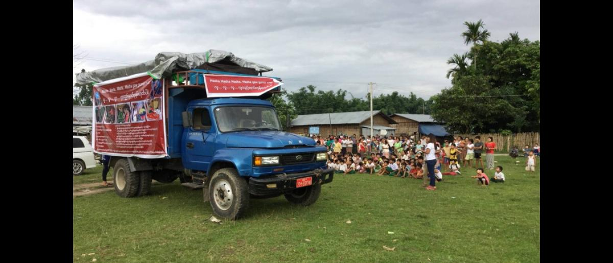 Two performances lasting about three hours each are performed daily at IDP camps. A total of 10 camps were visited as part of the roadshow.
