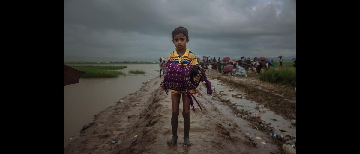 15,000 Rohingya refugees arrive at the Ajumanpara borderpoint between Bangladesh and Myanmar. Many have been waiting to cross for two days following their villages being recently burned and attacked.