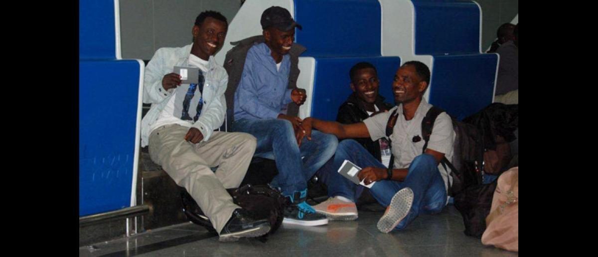Helping refugees who fled from Libya to Tunisia start new lives in Germany. IOM conducted cultural orientation trainings as well as arranged their flight and pre-departure health screening. © IOM 2012