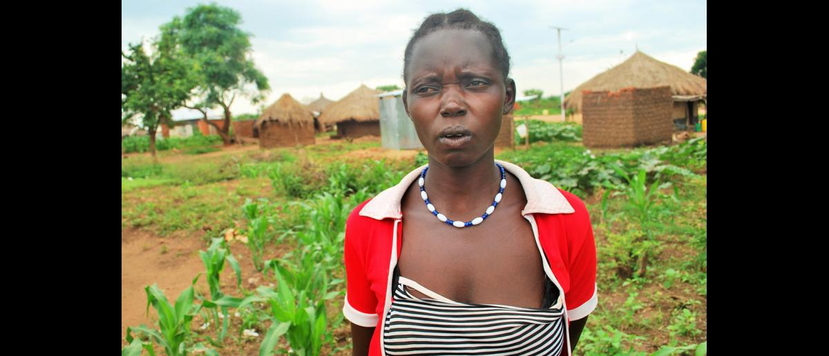 South Sudanese refugee Rose Sunday says the latrines are helping reduce incidents of open defecation. IOM with EU funding has constructed 15,000 latrines for refugees in Bidibidi refugee settlement in Uganda's Yumbe district. © Abubaker Mayemba / IOM 2018
