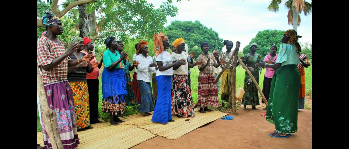 Some of the women from Nigonga village, Yumbe district who are hygiene promoters. These are sensitizing both refugees and host communities on the importance of adopting hygienic practices. © Abubaker Mayemba / IOM 2018